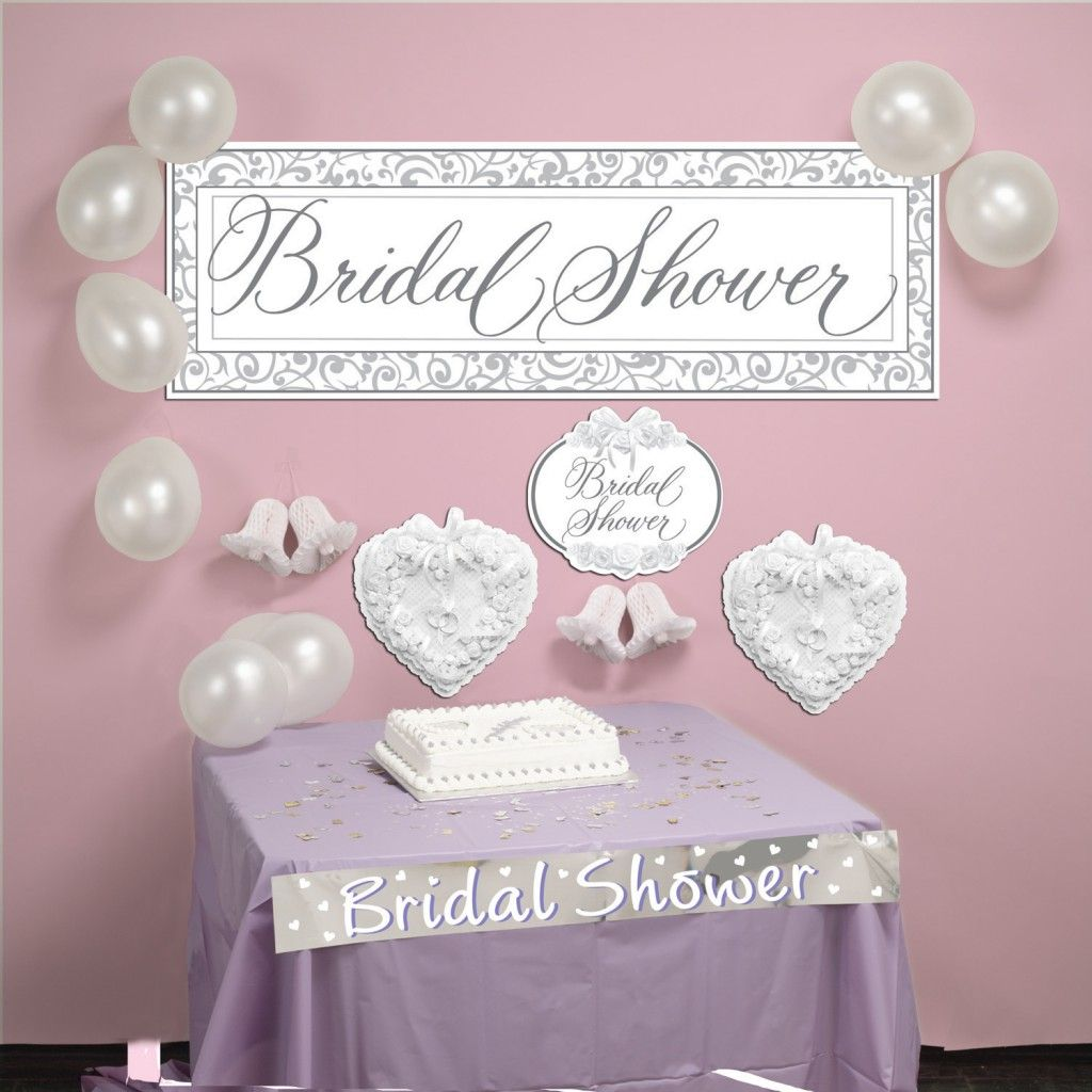 How to decorate office baby shower decorating bridal for Wedding shower decorations ideas