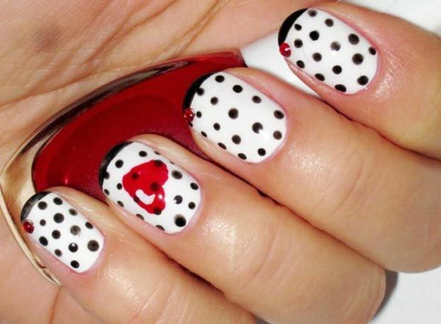 30 Best Simple Charming Valentines Day Nail Art Designs