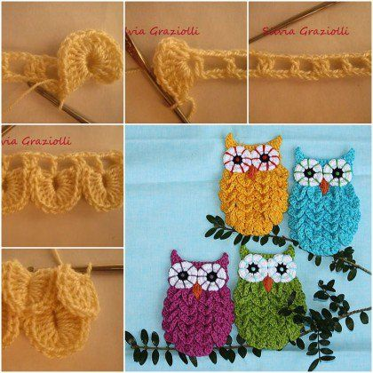 How to Crochet Crocodile Stitch Owl With Patterns | Pinterest ...