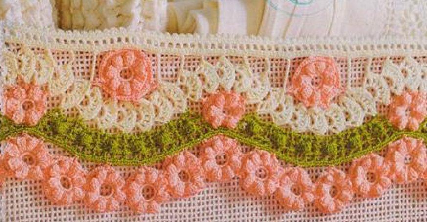 Barrado De Croche Com Flores Com Imagens Barrados De Croche