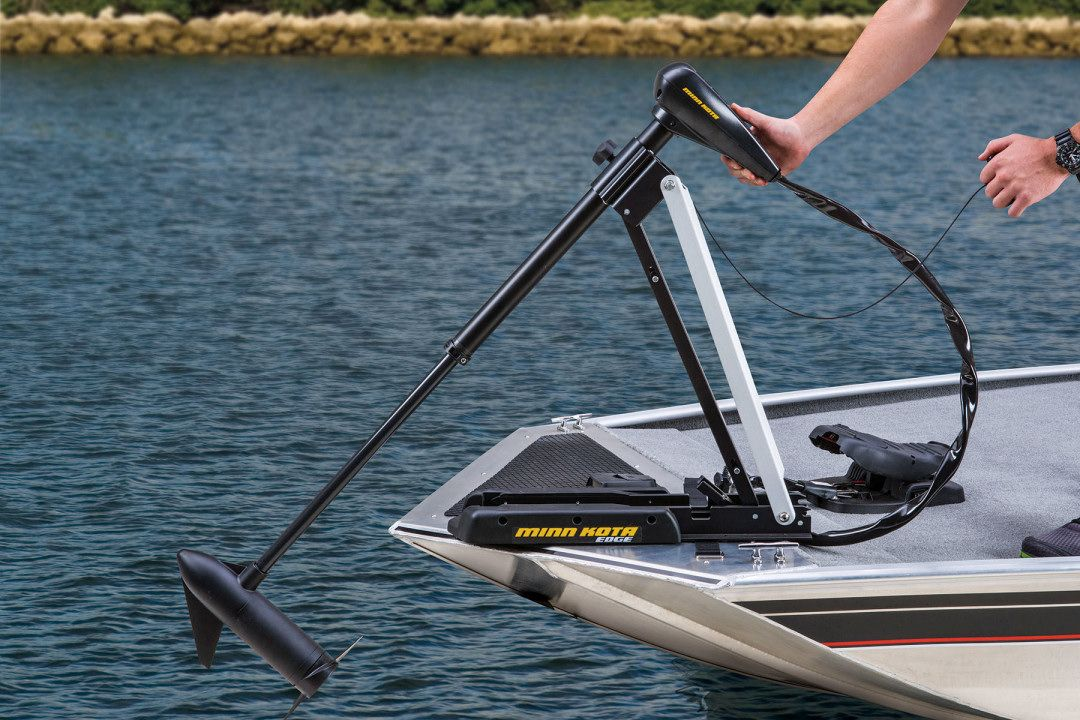 Tracker pro 160 the trolling motor deployed to silently for Trolling motors for boats