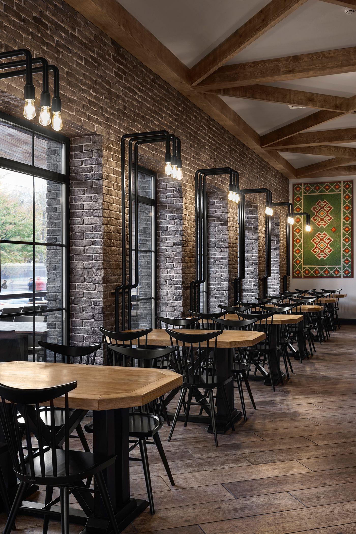 Industrial Restaurant Walls