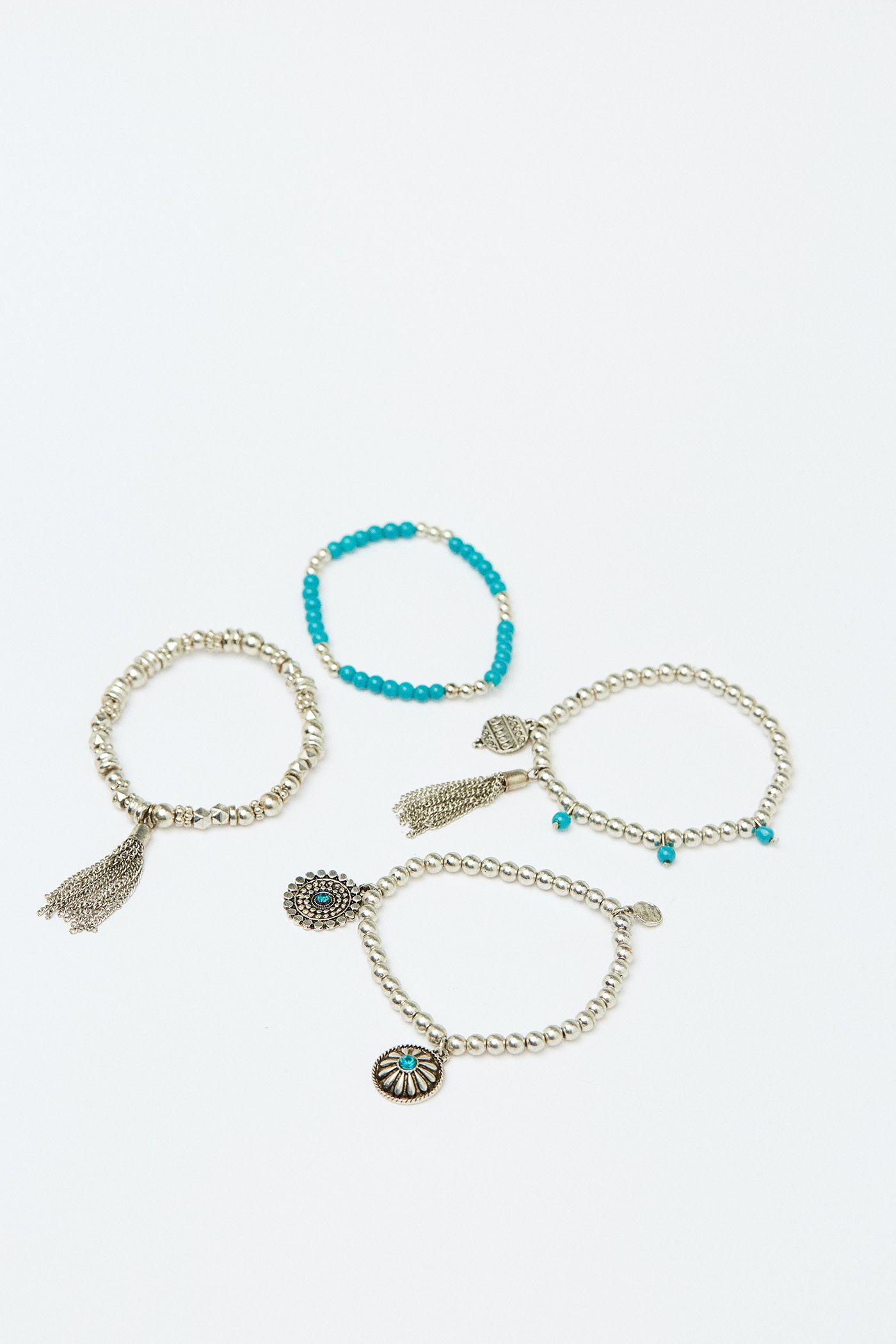 4a0117553455 Collar nudo abalorios - Nueva colección