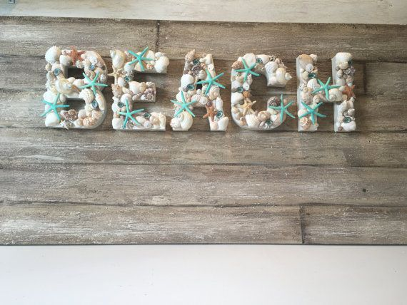 your friends will ooo and aaah over this gorgeous set of beach letters these custom