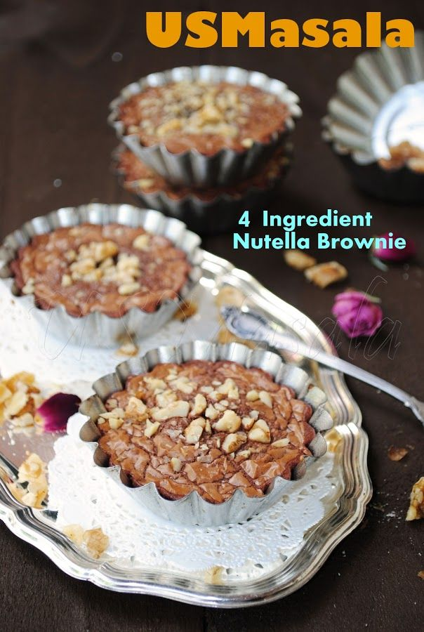 US Masala: 4 Ingredient Nutella Brownie