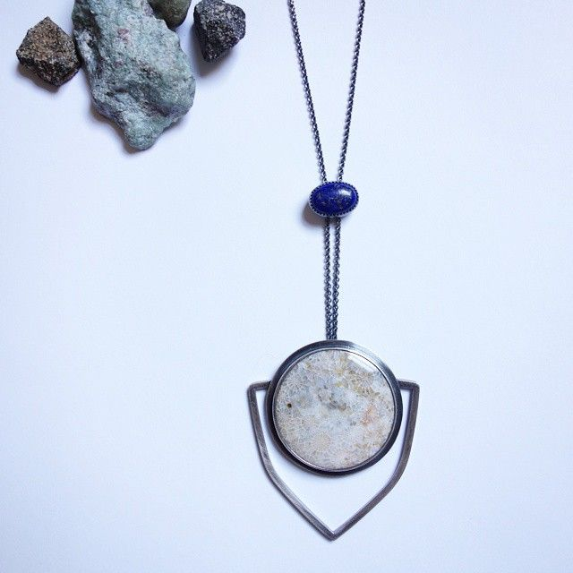 @meritmade  Love this combination of fossilized coral and lapis lazuli. This was definitely a fun commission to do!! #meritmade
