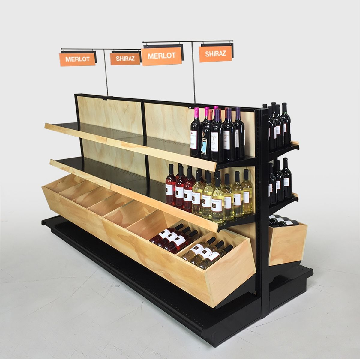 wine displays for liquor stores island fixture kit 54h x 8ft l in 2019 best retail foot. Black Bedroom Furniture Sets. Home Design Ideas