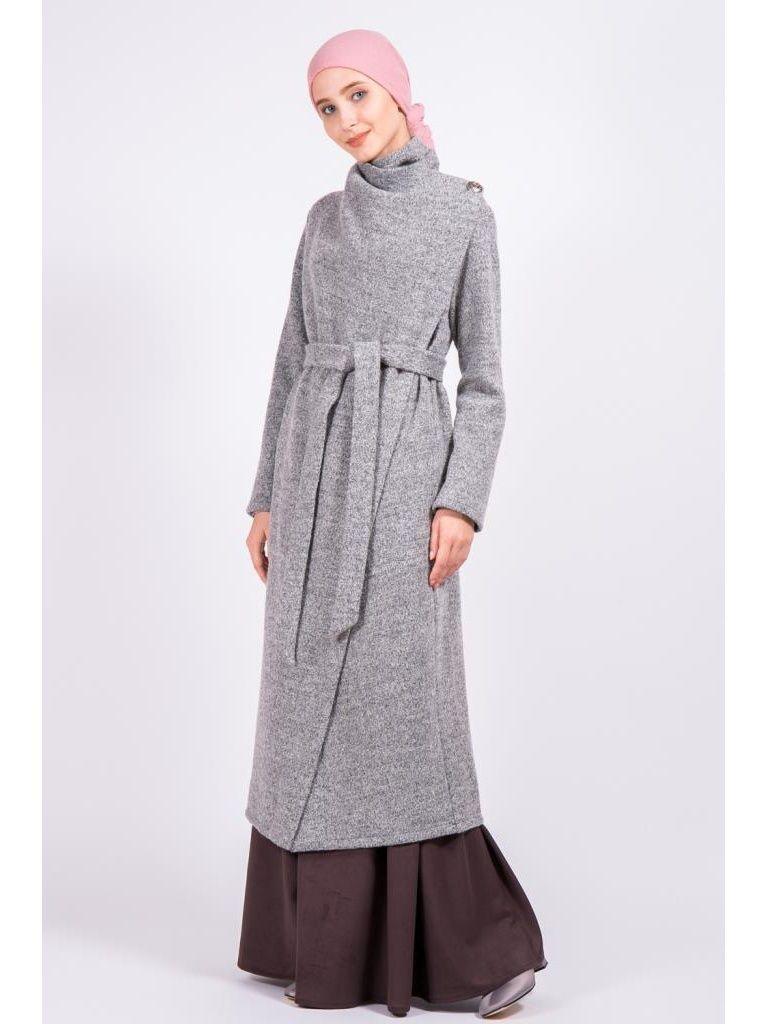 60895b31013 Пальто Bella kareema Пальто из вареной шерсти с драпировкой