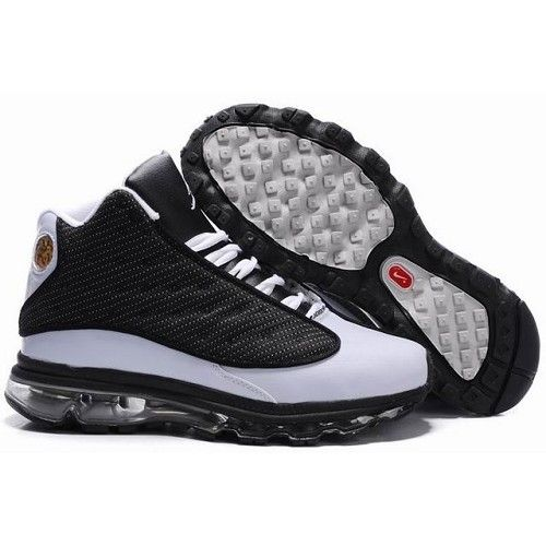 d5761b6a9c47 ... cheap recommend air jordan 13 air max fusion new version men black  white shoes 1003 5472c