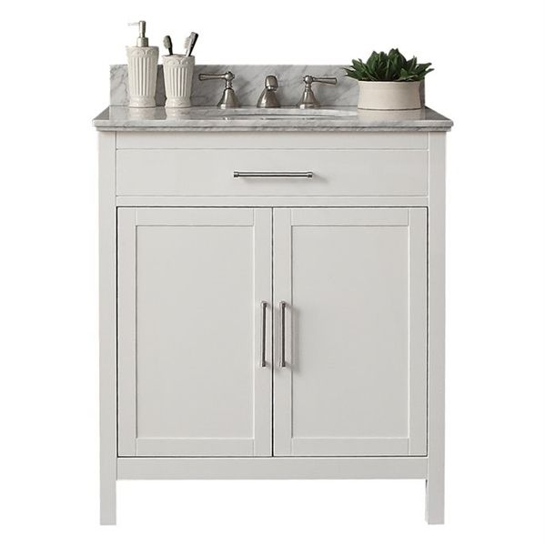 Shop Style Selections 31-in x 22-in White Modern Bathroom ...