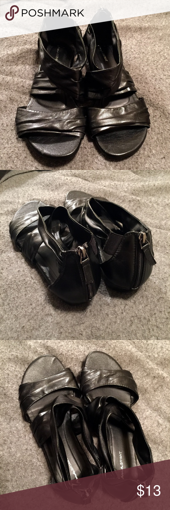 Womens sandals that zip up the back - Black Wrap Sandals