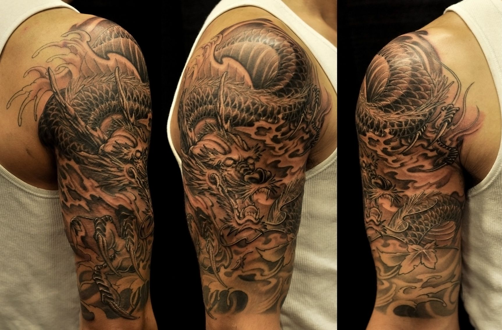 Half Sleeves Tattoo Collection From Dragon Tattoo Ideas Description From Malemodelspicture N Dragon Sleeve Tattoos African Sleeve Tattoo Tattoo Sleeve Designs