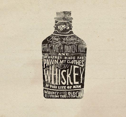 #whiskey #typography #grunge #logo #design