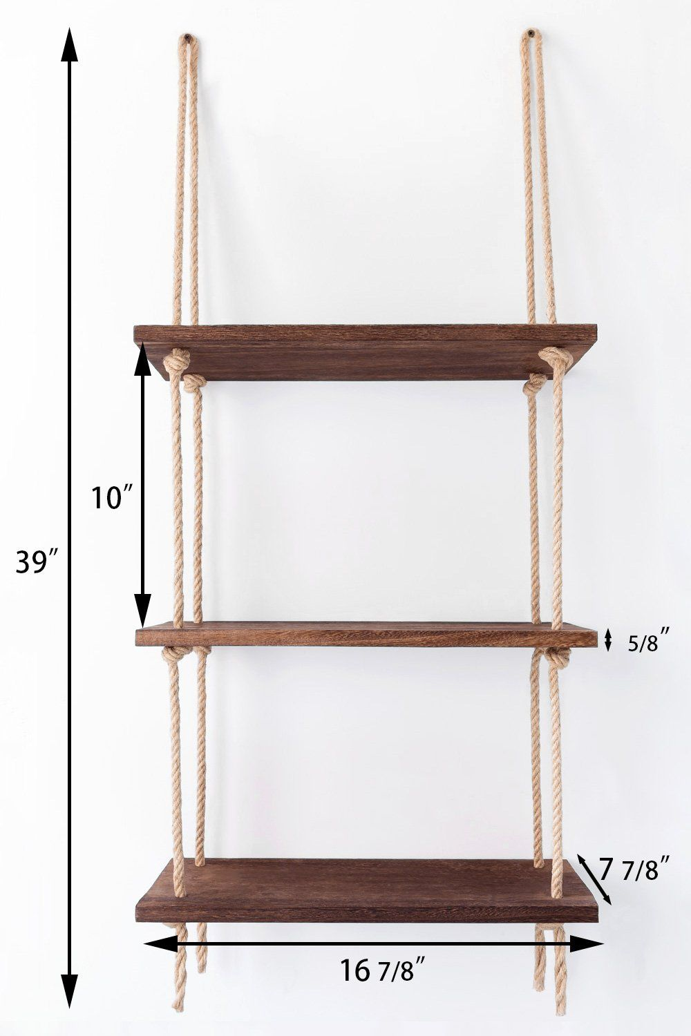 Mkono Wall Hanging Shelves Wood Window Rope Shelf Rustic Storage Rack Home Decor Plants Photos Decorations Display For Living Room Bathroom Bedroom Kitchen Apar Diy Hanging Shelves Wall Hanging Shelves Diy