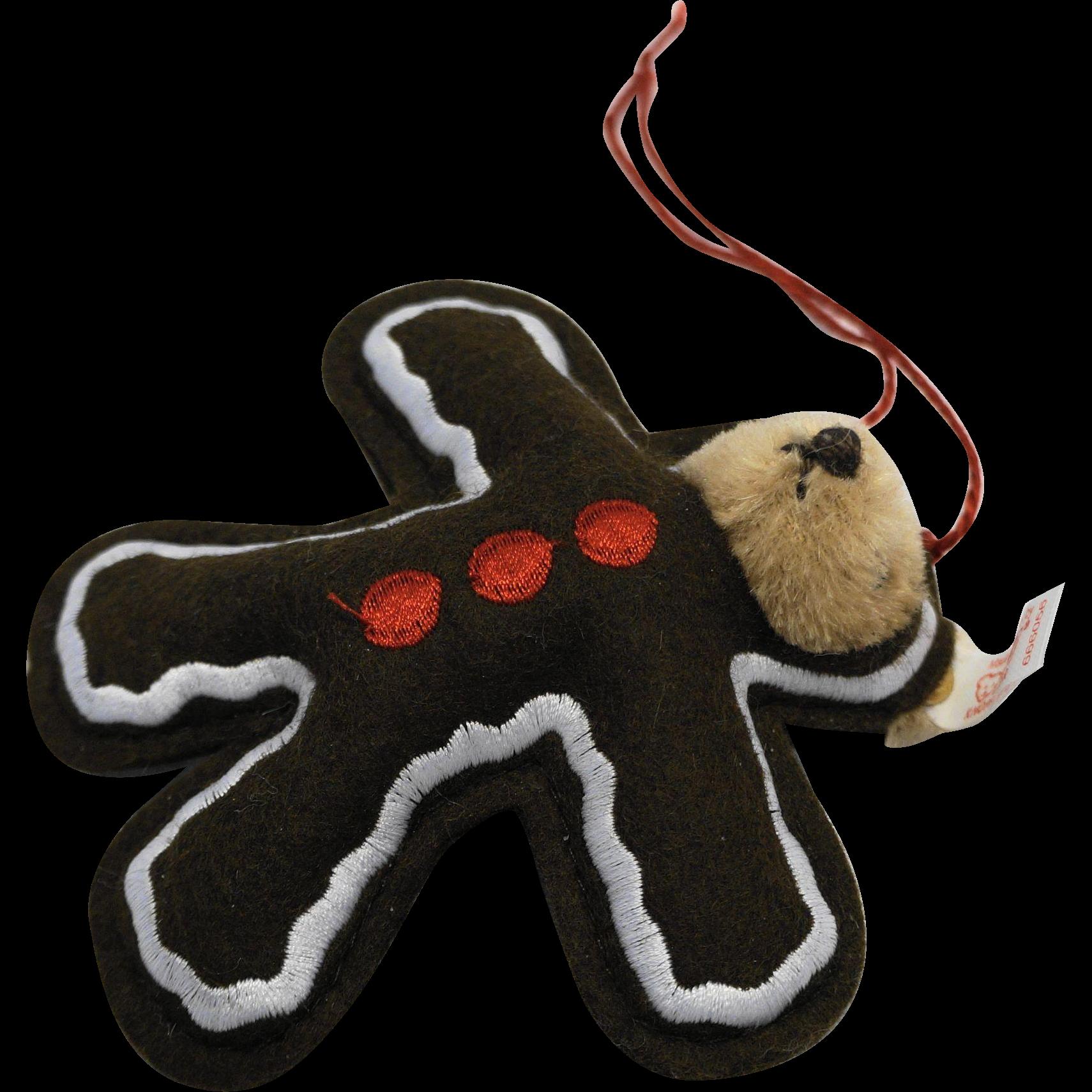 Steiff Gingerbread Man Teddy Christmas Ornament 666056 Ltd ...