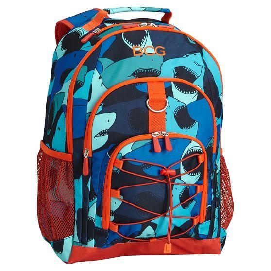 Gear-Up Blue Tossed Sharks Backpack | PBteen
