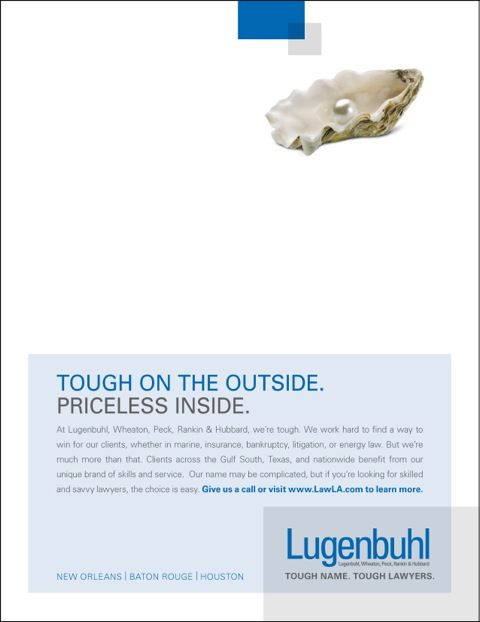 Lugenbuhl Oyster Print Advertisement And Creative Design Law Firm Marketing Law Firm Marketing Law Firm Print Ads