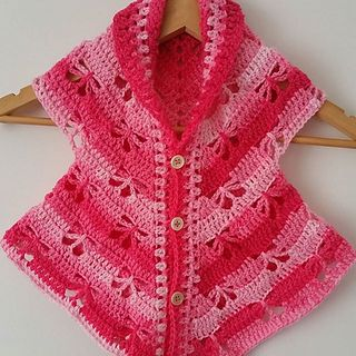 Butterfly cardigan pattern by Addicted 2 The Hook #babyponcho