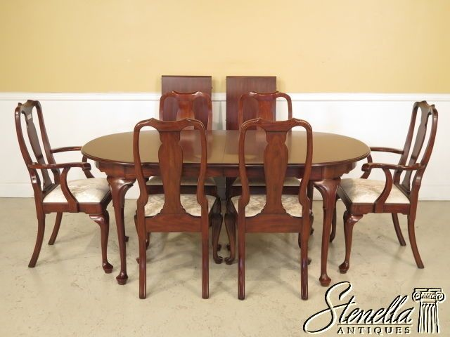 3772537726E Henkel Harris Cherry Queen Anne Dining Room Table Endearing Queen Anne Dining Room Set Decorating Inspiration