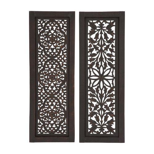 Woodland Imports 2 Piece Beautiful Styled Wood Panel Wall: 2 Piece Beautiful Styled Wood Panel