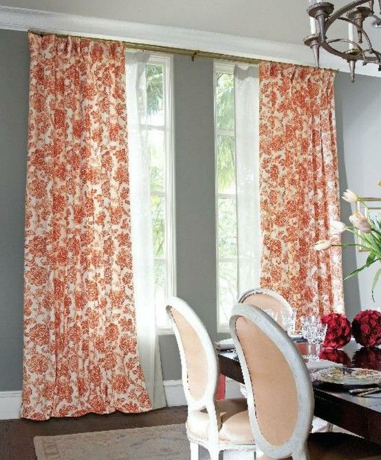 Dining Rooms Drapes Color And Chairs
