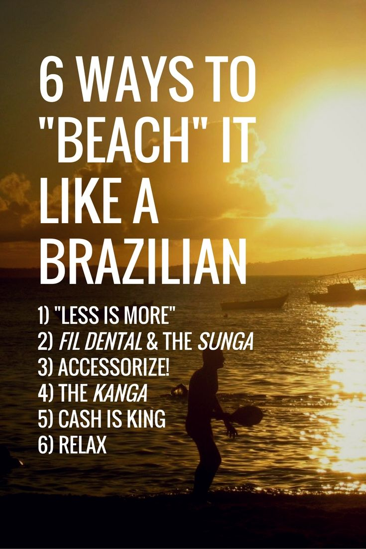 6 Ways To Beach Like A Brazilian Beach Beach Games Brazil