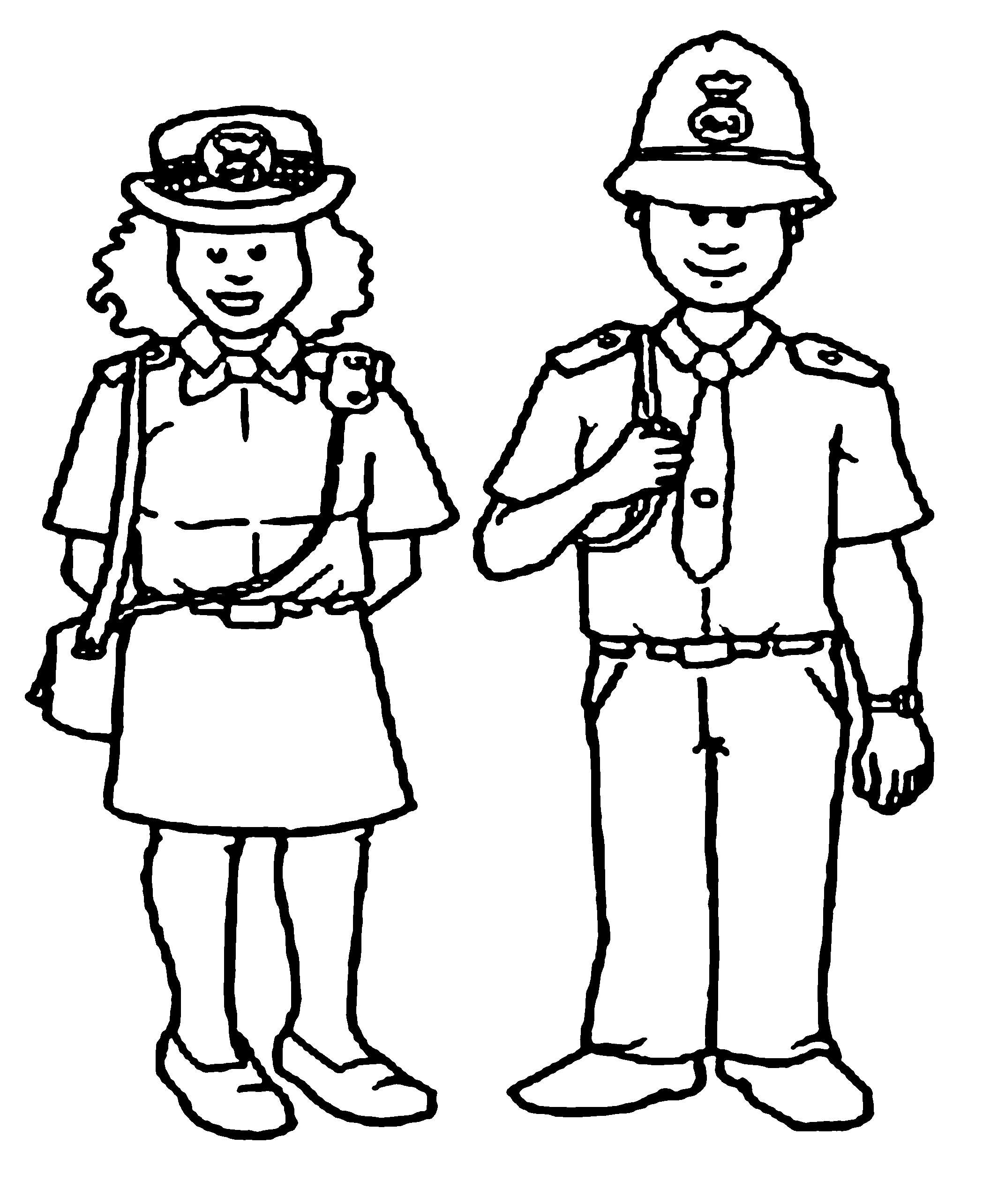 policeman coloring pages kids - photo#26