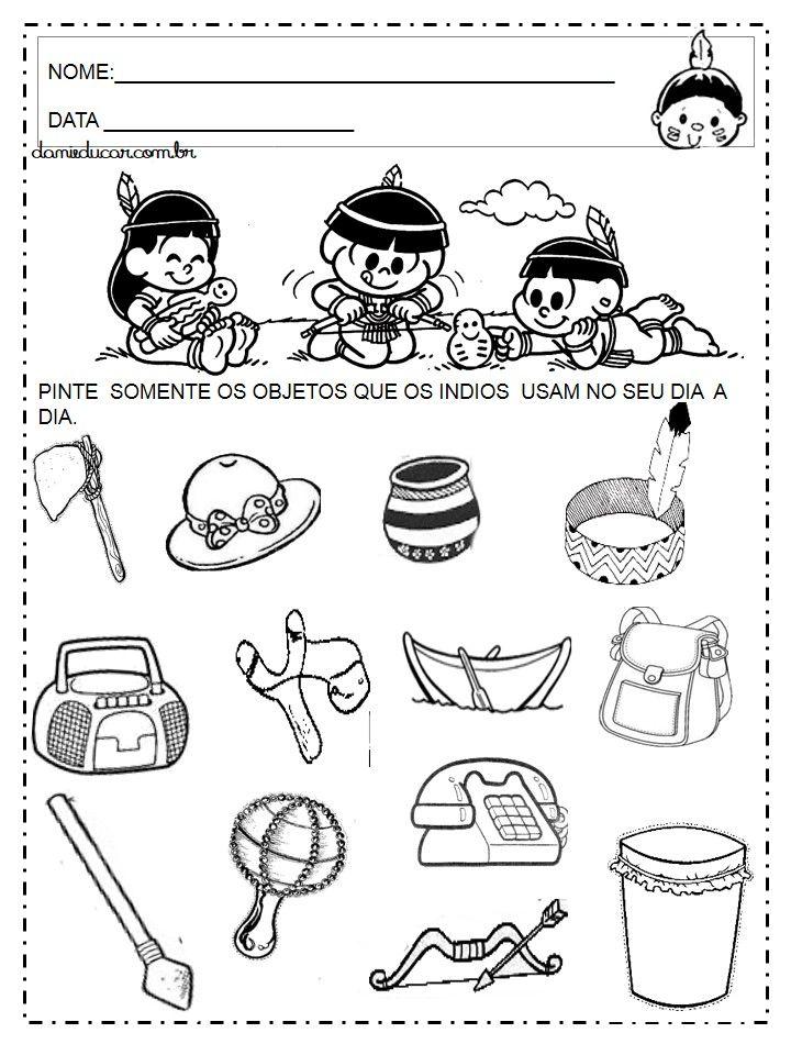 Atividades De Educacao Infantil Dia Do Indio Atividade Dia Do Indio