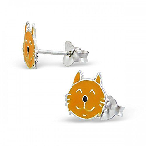 Girls Ginger Cat Enamel Sterling Silver Stud Earrings MS07 I Heart Fashion Accessories http://www.amazon.co.uk/dp/B00OLOROI2/ref=cm_sw_r_pi_dp_Cg9Qwb1ETKY3H