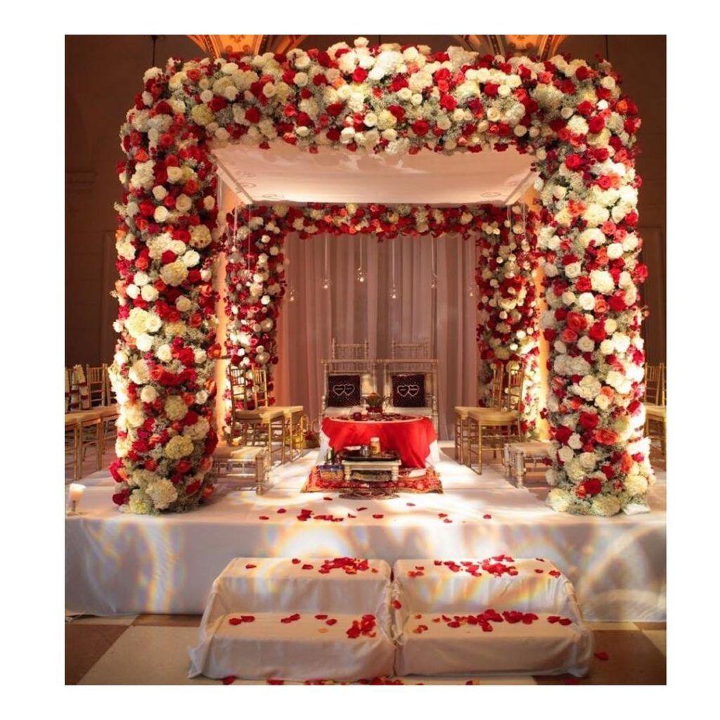 Indoor Mandap Decor Mandap Decor Wedding Venue Decorations Wedding Mandap