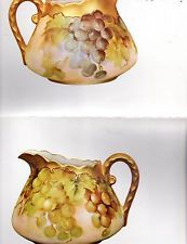 #35 Grape Pitcher by Helen Humes  Oversized China Painting Study 1972