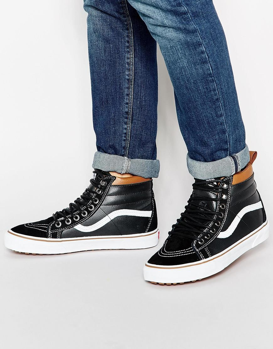 348a6b4ea9 Vans Sk8-Hi Leather Winter Trainers