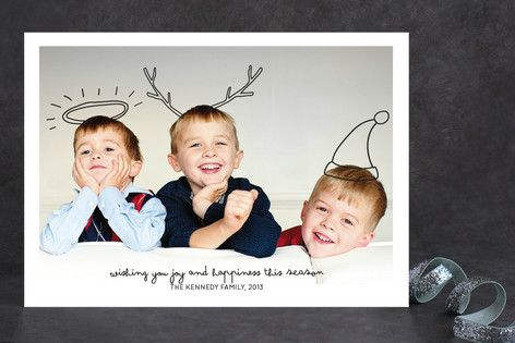 Family fun holiday photo cards by peter loves jane