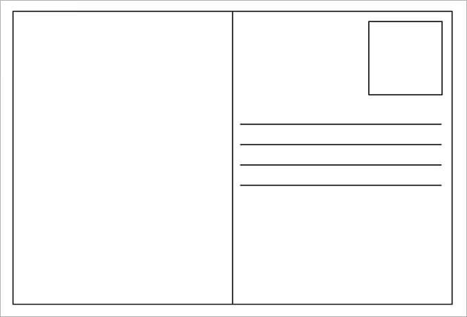 Terrible image regarding printable postcards template