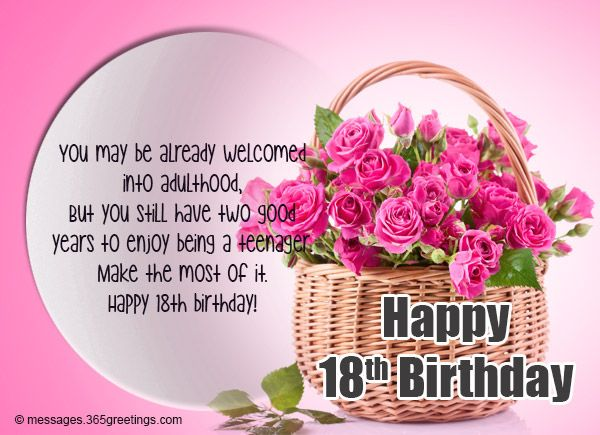 18th Birthday Wishes Messages And Greetings Birthday Wishes