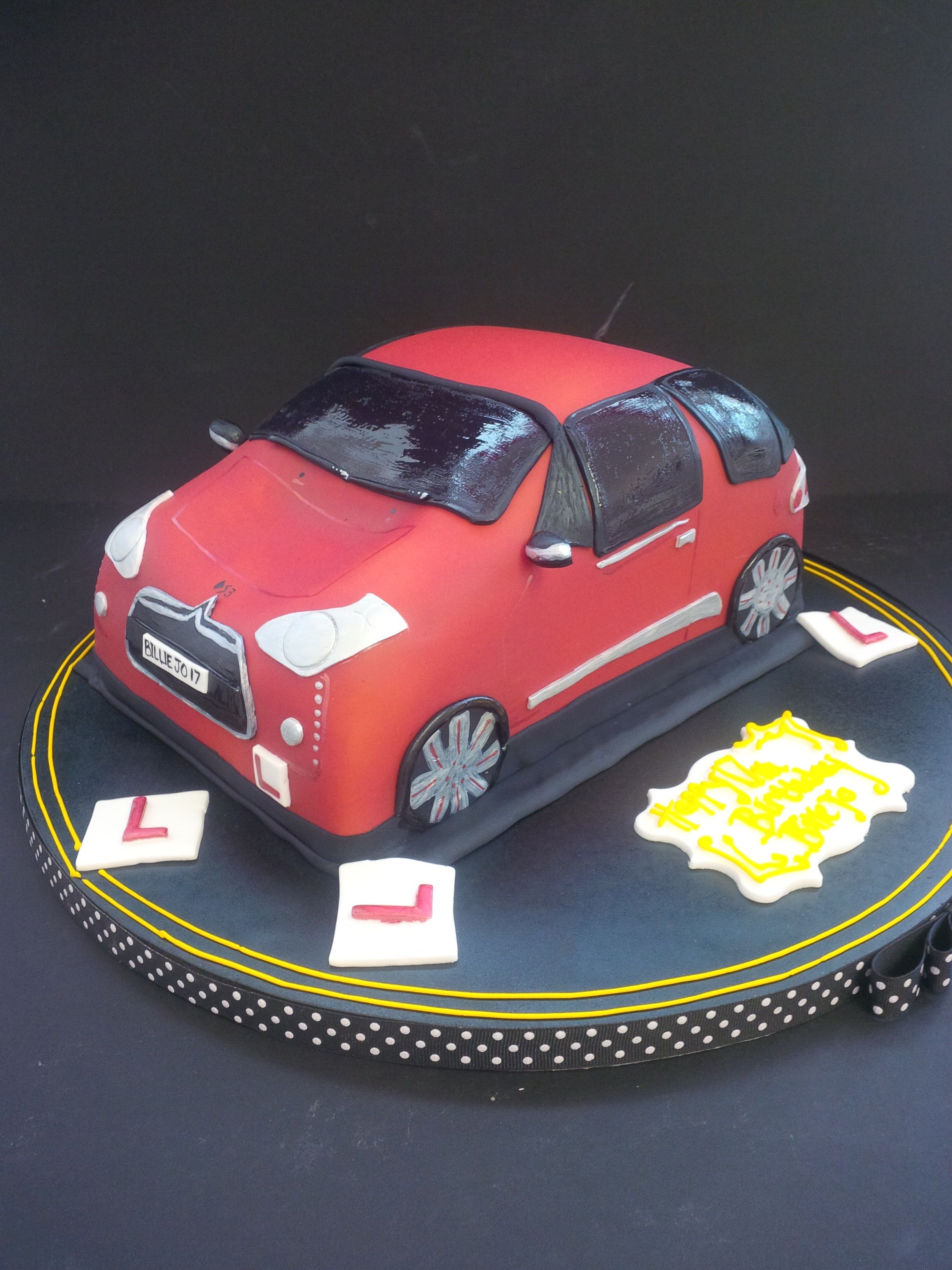 Happy Birthday Car Cake Things Ive Made Pinterest Car Cakes