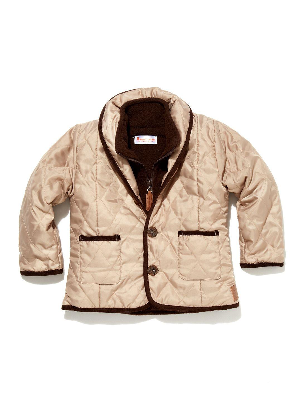 Quilted Coat With Removable Fleece Vest  Vest #Zipclosure #OuterwearKids