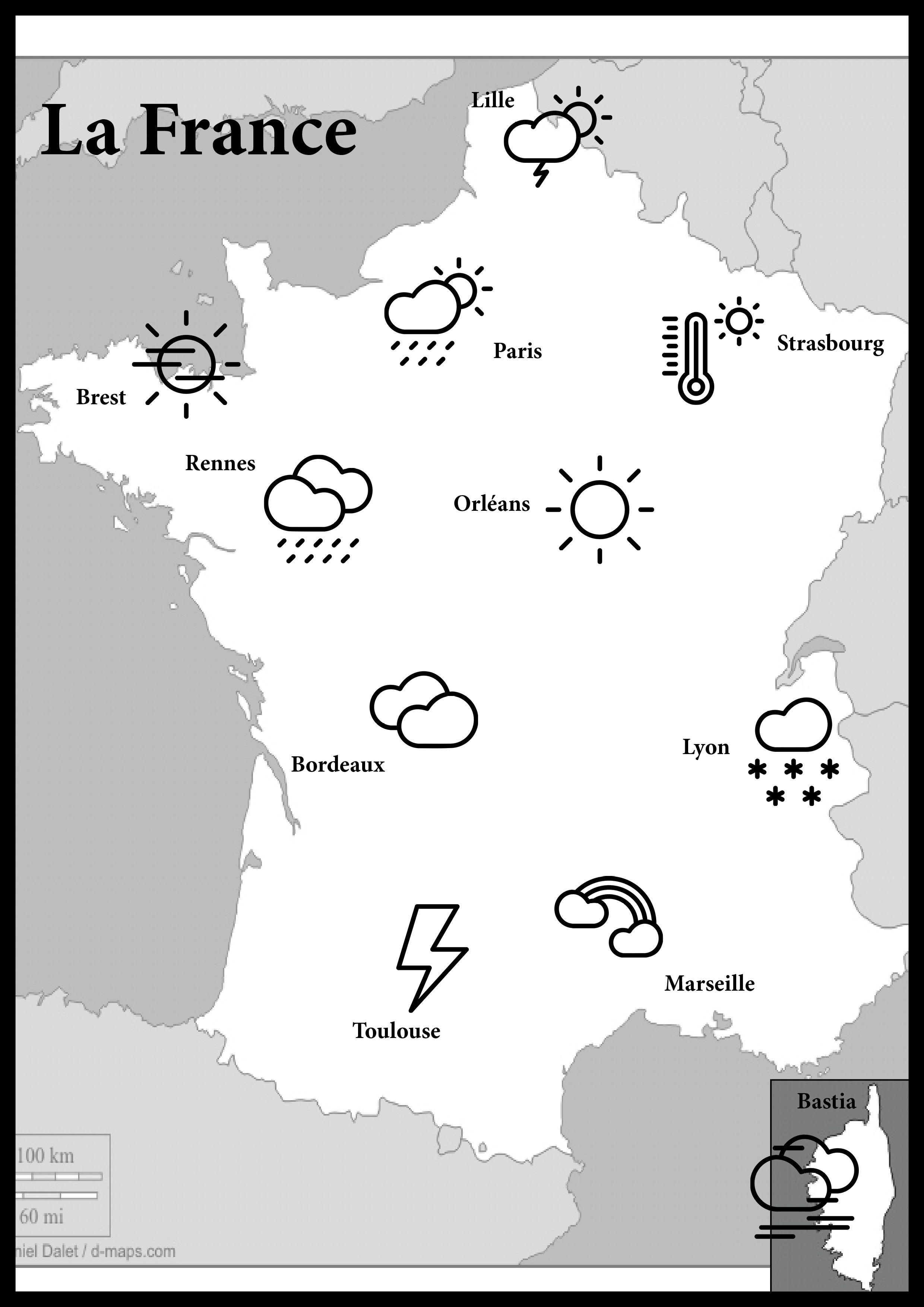 Jeu De La Meteo Des Pays Carte Meteo L Enseignement Du Francais