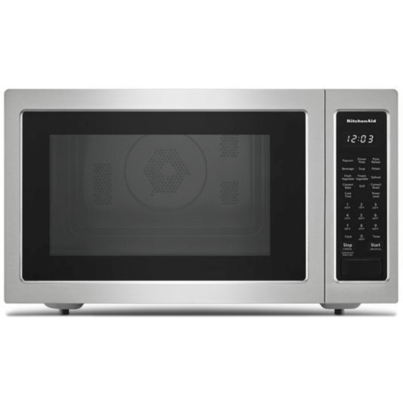 Kmcc5015gss By Kitchenaid Countertop Microwaves Goedekers Com Stainless Steel Microwave Countertop Microwave Microwave Convection Oven