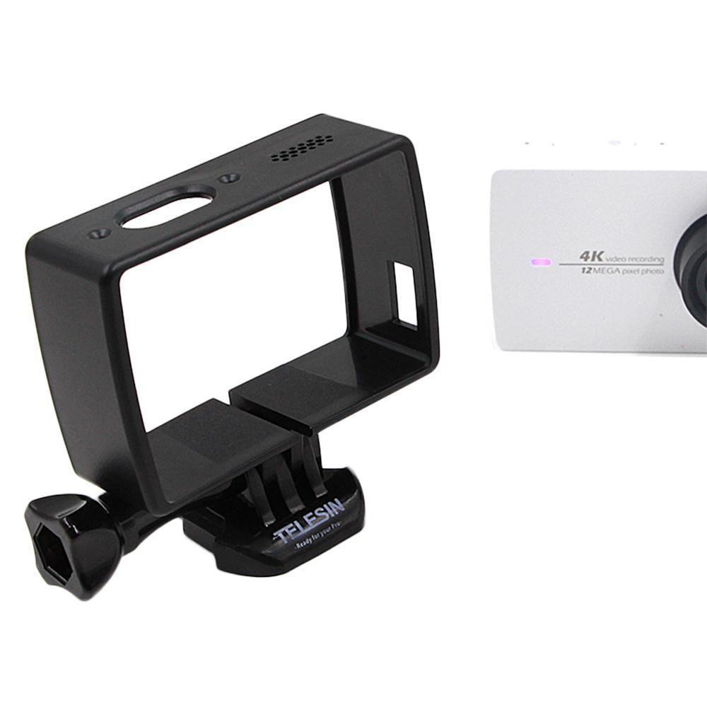 204 Black Frame Housing Case Cover Mount Base For Xiaomi Yi 2 Ii Action Camera 4k