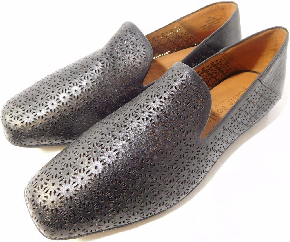 Gentle Souls Women Shoes Erin Flat Black US Size 9M Premium Leather Memory  Foam