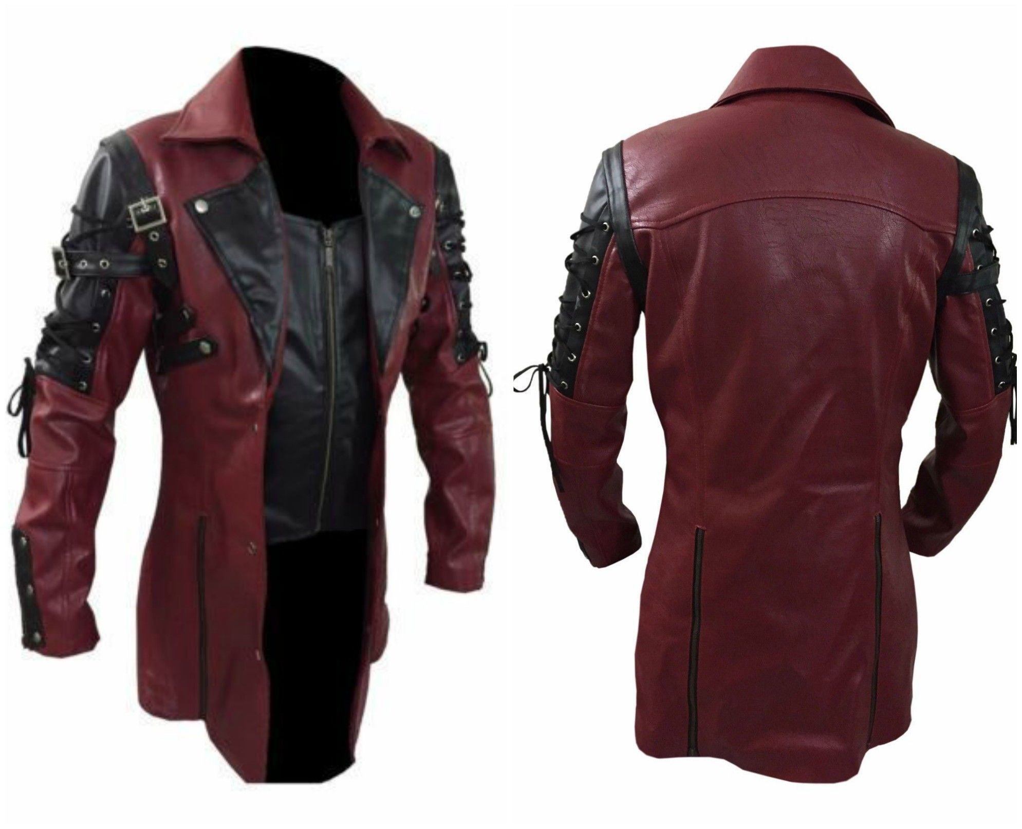 New Costume For This Halloween Special Steampunk Men's Gothic Trench.