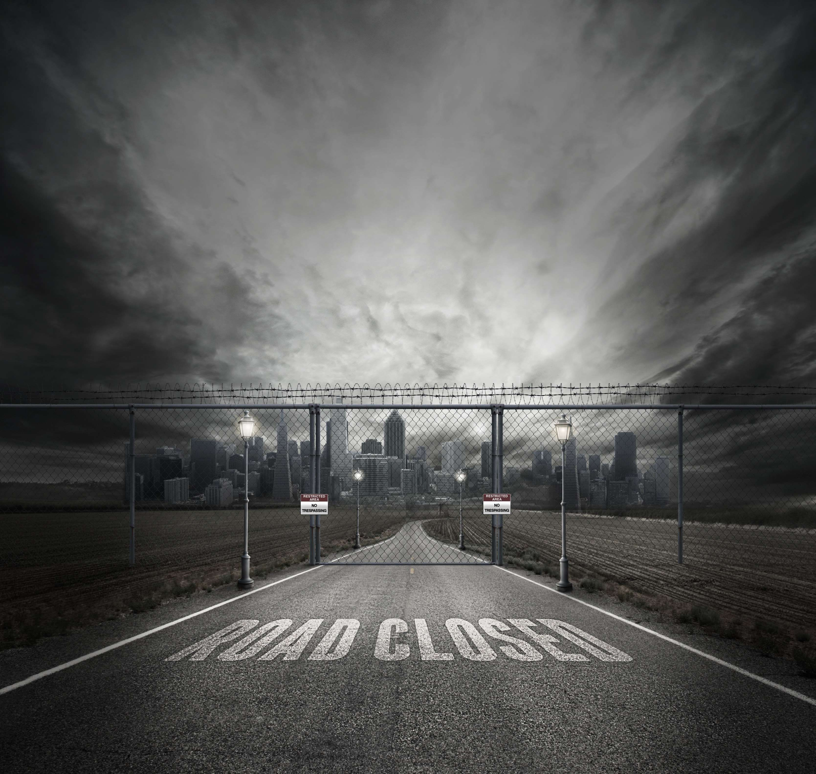 Asphalt Barbed Wires Buildings City Dark Dramatic Empty Overcast Perspective Road Urban In 2020 Picsart Background Dslr Background Images Background Images