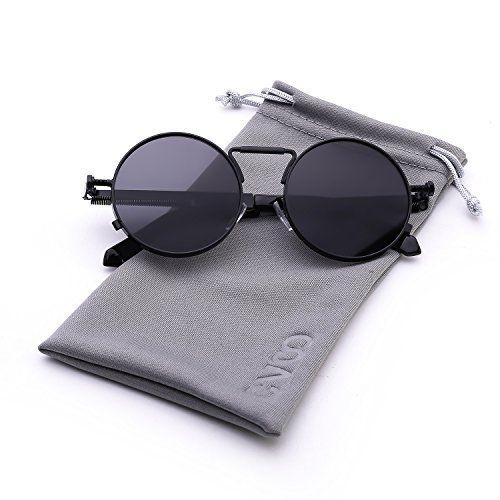 Cvoo High Quality Retro Women Round Sunglasses Steam Punk Metal Frame Vintage Round Sun Glasses Male Female Mirror Uv400 FStpgyiN9j