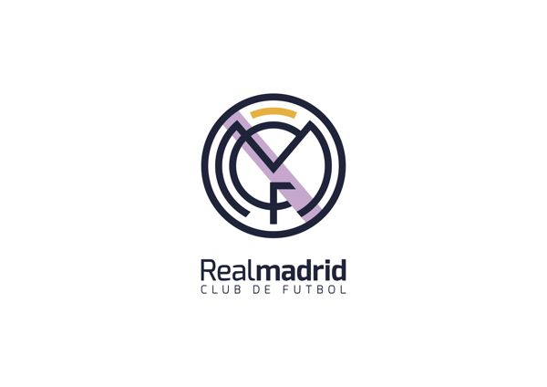 Real Madrid Cf Redesign By Ruben Ferlo Via Behance Real Madrid Logo Real Madrid Football Real Madrid