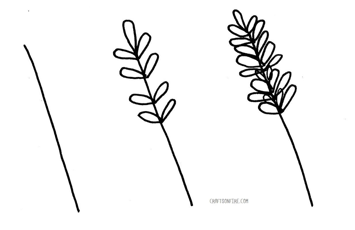 How To Draw Lavender Flowers Easy Step By Step Guide Craftsonfire Easy Flower Drawings Drawings Flower Drawing