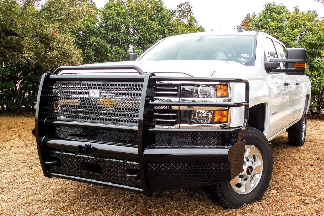 Cowboy front bumper for 15 16 chevrolet 2500 3500 heavy duty pipe