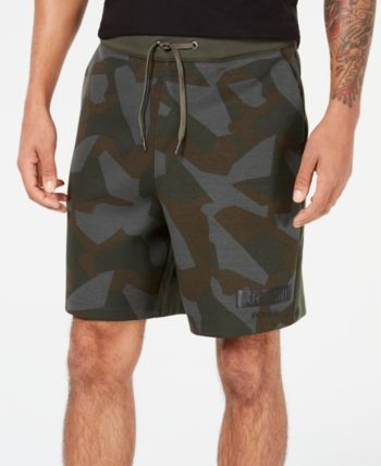 b22179e9af A|X Armani Exchange Men's Distressed Camo Shorts - Green Camo L ...