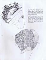 1960's hat millinery fashion sketch