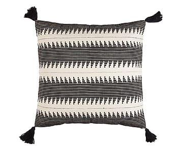 Cojín de algodón, negro Bernice - 60x60 cm